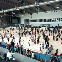A big crowd enjoying skating at sydney ice arena nov 2012